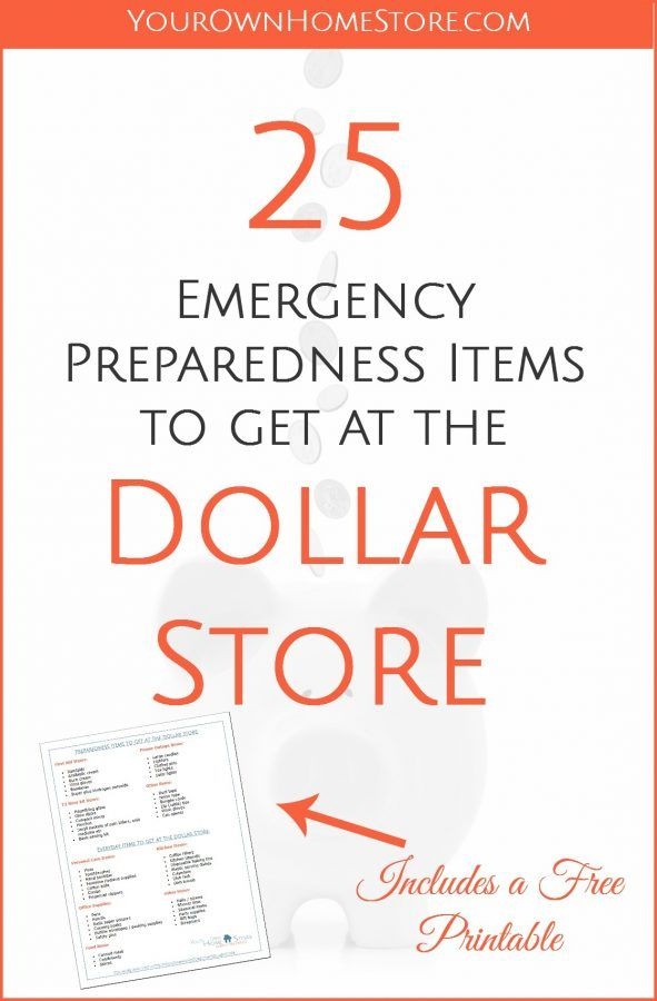 25 Emergency Preparedness Items to get at the dollar store