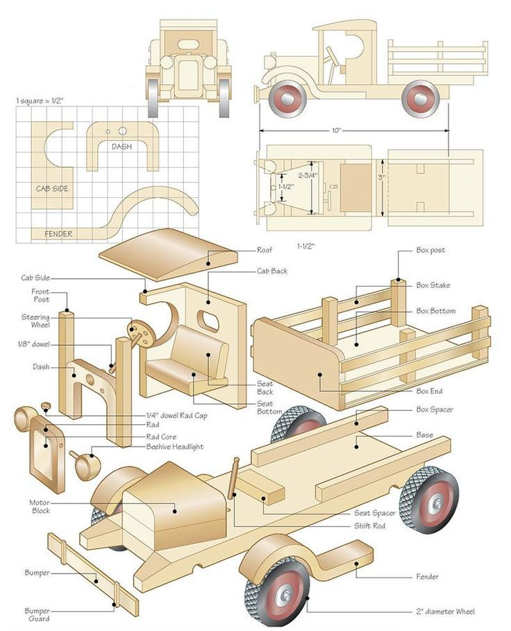 "Toy Car Plans : ""c cab stake truck projects to try pinterest wooden"