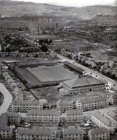 Sky view of muirton park. St johnstone fc old ground.
