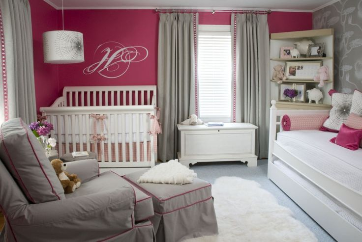 Liz Carroll Interiors - nurseries - pink and gray, pink and gray