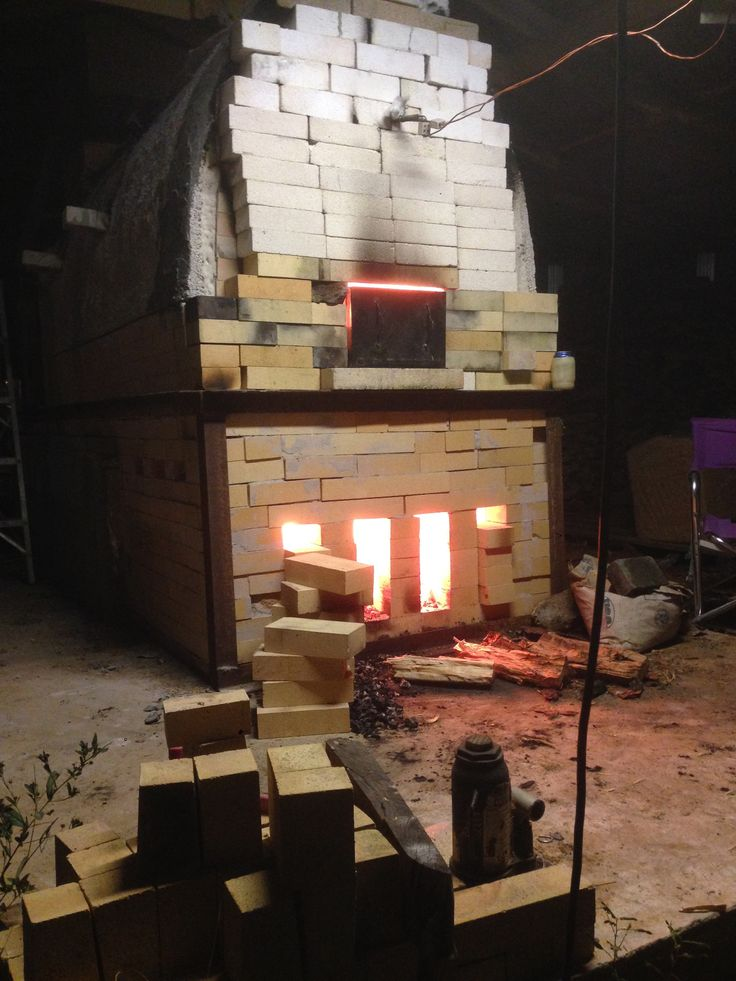 Fire is hot!  Wood kiln in action #webbpottery