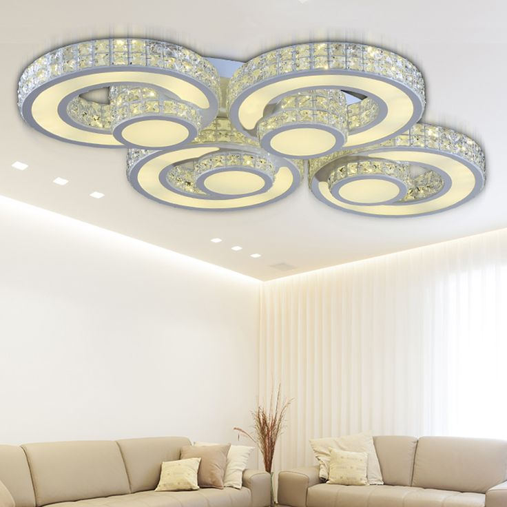 Ceiling Lights Modern Home Bedroom Led Deckenleuchte Kristall Lamp Living Room Kitchen Light Flushmount Lighting Fixtures