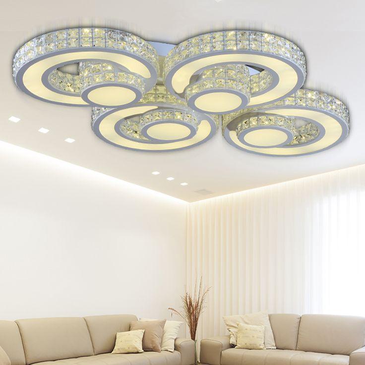 New ceiling lights modern home bedroom led deckenleuchte kristall lamp living room kitchen light flushmount lighting fixtures