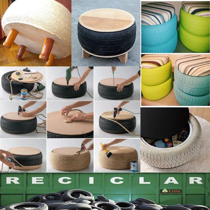 decorar con objetos reciclados rea de ideas