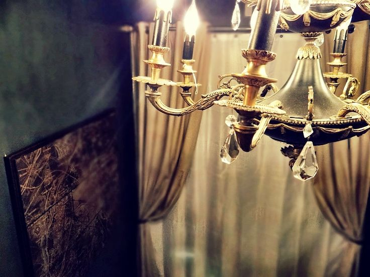 Chandelier & Curtain Bathroom Remodel