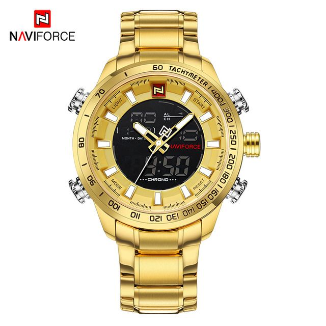 Reloj Naviforce Para Hombre Reloj De Oro Reloj Deportivo Led Digital Para Hombre Reloj De Pulsera In 2020 Luxury Watches For Men Mens Sport Watches Watches For Men