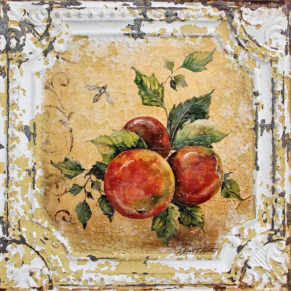 I uploaded new artwork to fineartamerica.com! - 'Apples And Bee On Vintage Tin' - http://fineartamerica.com/featured/apples-and-bee-on-vintage-tin-jean-plout.html via @fineartamerica