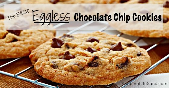 These are the best chocolate chip cookies around. I get a lot of compliments for them. People are surprised they are eggless.