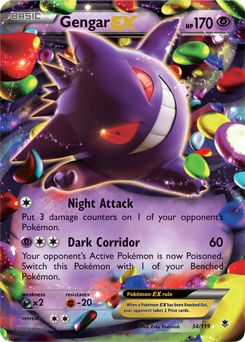 XY - Phantom Forces Gengar EX 34/119 (Rare Holo EX)