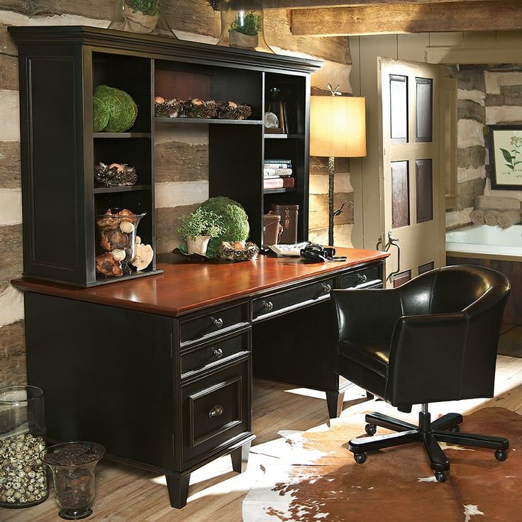 17 best home office furniture images on pinterest home office desks home offices and home - Home office furniture solid wood ...