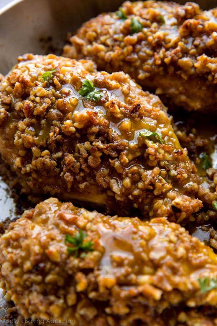 Unbelievable Walnut Crusted Chicken (Sally's Baking Addiction)