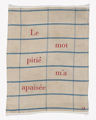 "Louise Bourgeois - Le Mot Pitié m'a Apaisée. 2002 - ""The Word Pity Calms Me"" - Fabric Works"