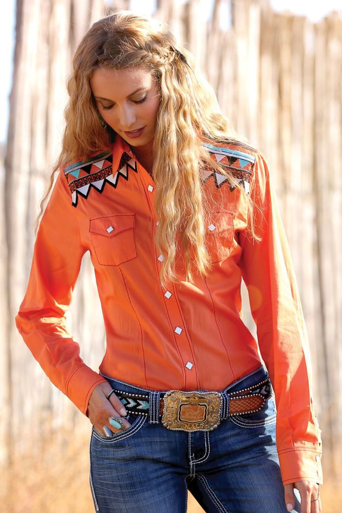 CRUEL GIRL CTW9358002 RODEO Western Barrel Arena Fit SHIRT COWGIRL NWT MEDIUM #CruelGirl #Western