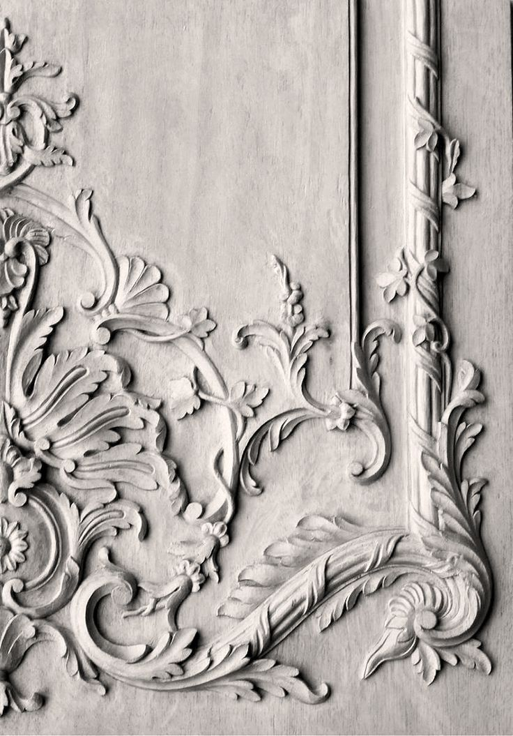 Wood carved French panel - hand carved by Agrell Architectural Carving