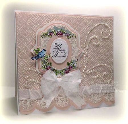 4-2-12 Life is better with wm: Spring Rose, Cards Ideas, Beautiful Cards, Crafts Cards Scrapboook Blog, Lattices Backgrounds, Classic Lace, Backgrounds Stamps, Cards Inspiration, Backgrounds Images
