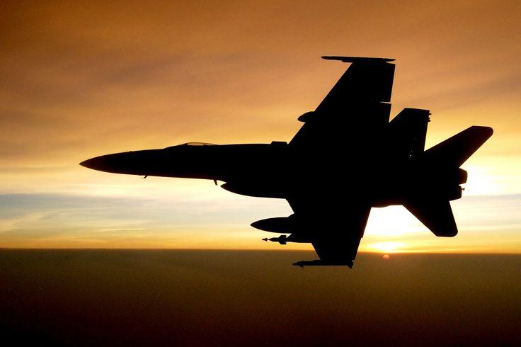 F/A-18C Hornet in Silhouette
