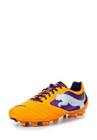 Мужские бутсы Puma - удобная обувь для футбола. Модель выполнена из натуральной и искусственной кожи. Детали: текстильная подкладка, шнуровка, шипы. http://j.mp/1pfXqiK