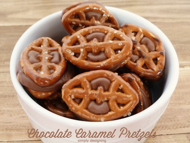 Chocolate Caramel Pretzels: Game Day Style