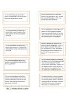 This worksheet contains 18 conversation cards and a matching exercise with pictures. The cards can be cut out if desired and be used as conversation questions. Can be used with both teens and adults.  - ESL worksheets