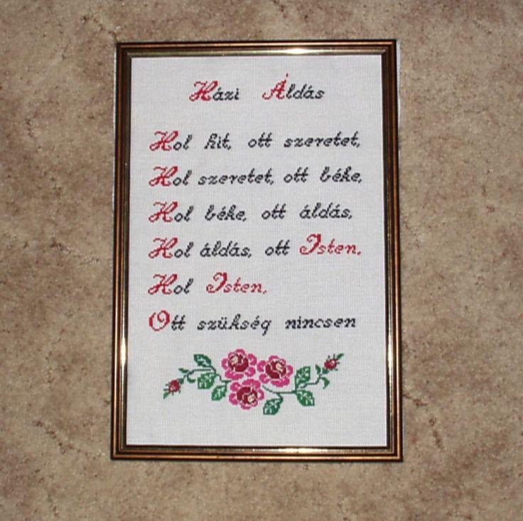 Házi áldás rózsákkal