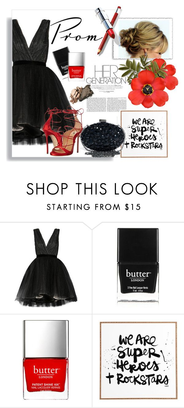 """""""we are rockstars"""" by theworldisatourfeet ❤ liked on Polyvore featuring Alice + Olivia, Butter London, DENY Designs, Dsquared2 and promdoover"""