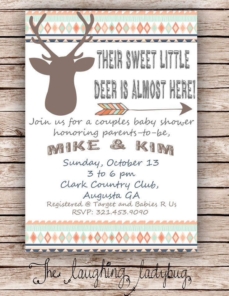 best  hunting baby showers ideas on   hunting theme, Baby shower invitation