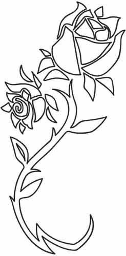Diseños de bordado en hilos urbanos - Coming Up Roses: