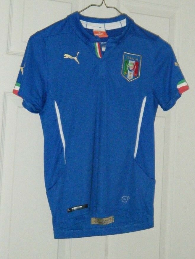 f48ea46f12d Italy Puma Youth Kids Home Replica Soccer Jersey XL Power Blue Used  Puma   Italy