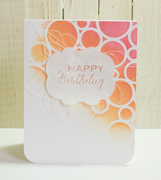 Online Card Classes: Stenciled Day One