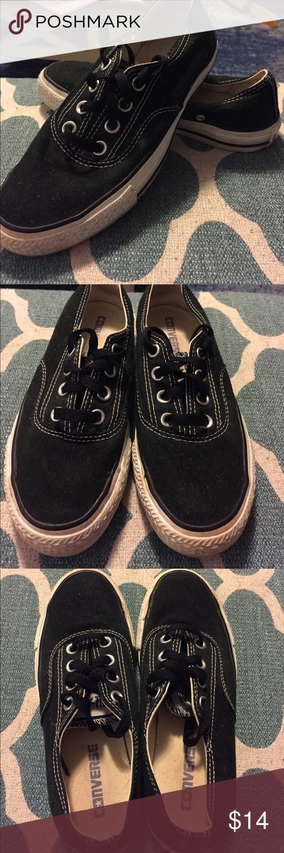 Black chuck taylors I wore these maybe three times! Very gently preloved. Converse Shoes Sneakers
