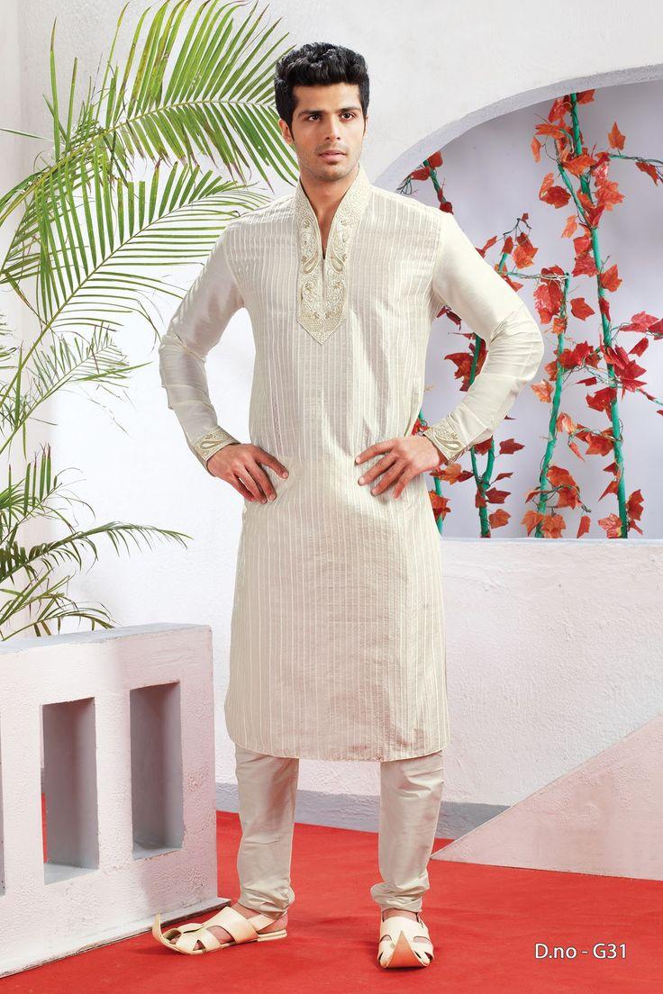 Off White Poly Dupion Readymade Kurta with Churidar  http://www.silk-india.com/en/82-kurta-pajama 61.99$  Now, place your Order now : Email:- raksha@silk-india.com