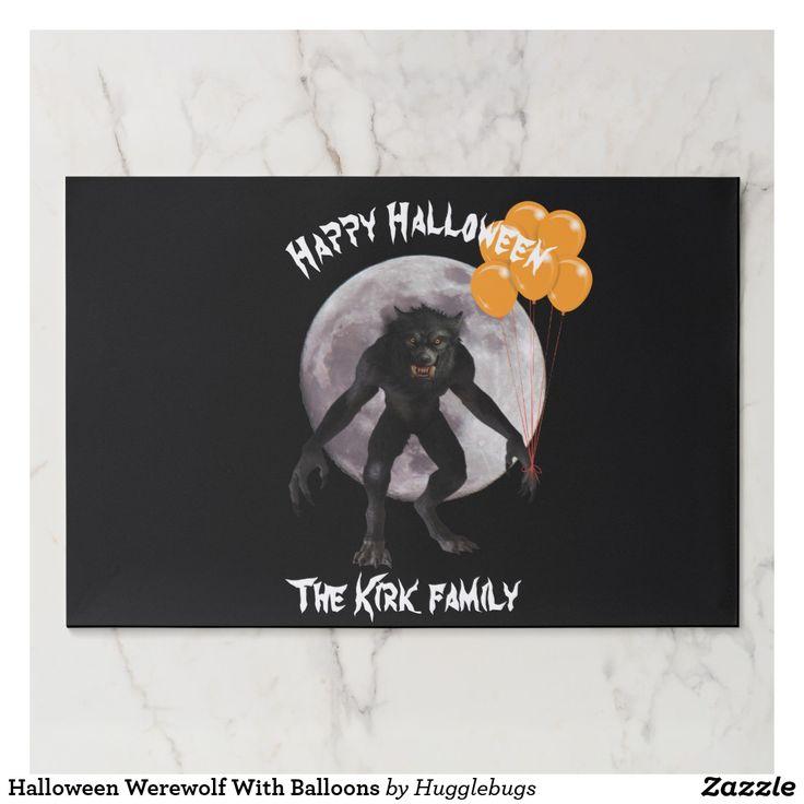 Halloween Werewolf With Balloons