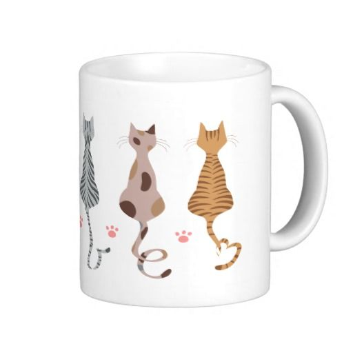 Cats Love Tails Mug These cute cats' tails form the word love.