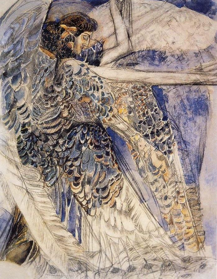 The angel having six wing, Mikhail Vrubel. Russian (1856 - 1910)