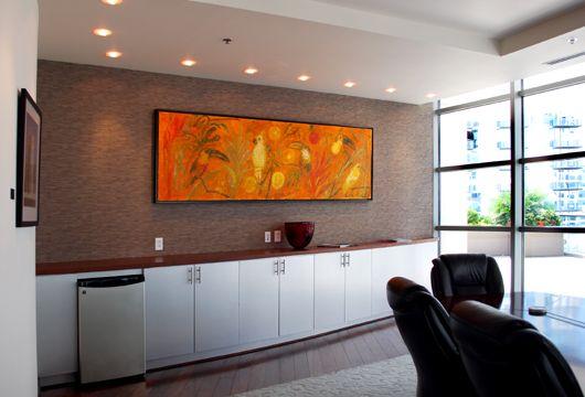 Built In Credenzas Sotheby Custom Conference Room