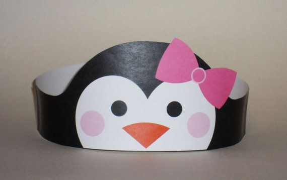 Penguin Girl Crown Printable by PutACrownOnIt on Etsy, $2.00