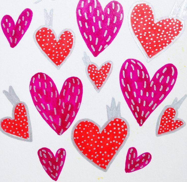 Textured hearts #hearts