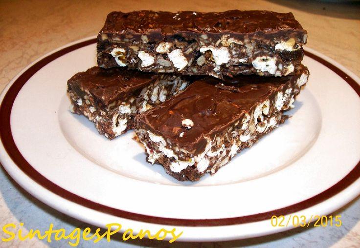 Ζαχαροπλαστική Πanos: Μπάρες δημητριακών με σοκολάτα