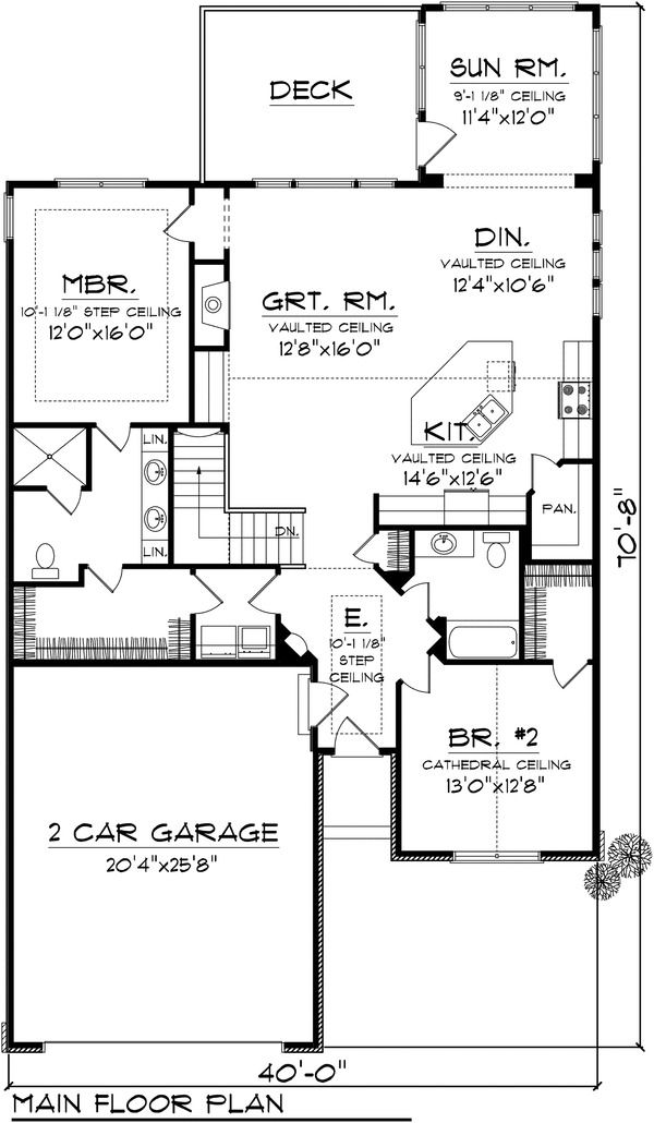 Traditional Style House Plan 2 Beds 1 75 Baths 1662 Sq Ft Plan 70 1110 Ranch House Plans Ranch Style House Plans Architectural Design House Plans