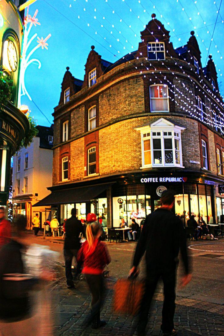 Jersey, Channel Islands St Helier  pedestrianised shopping street