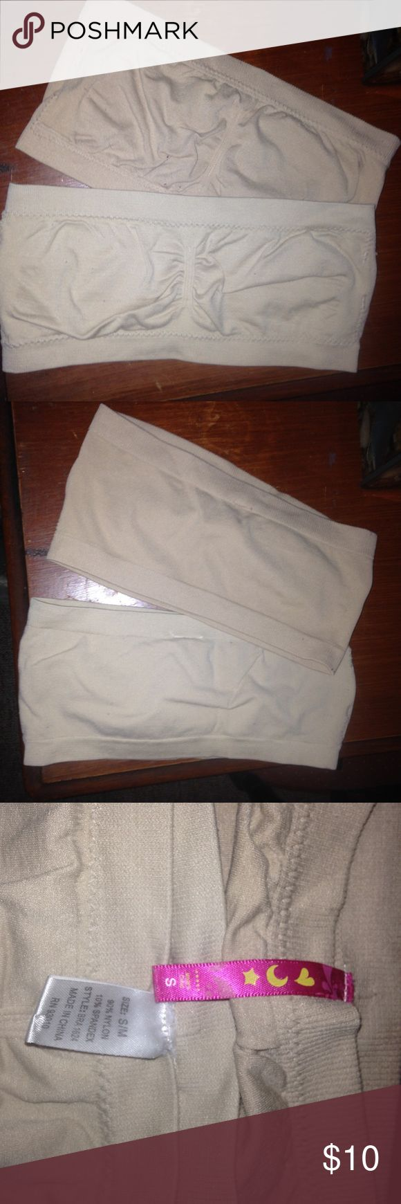 Nude Bandeaus Good condition. Both are size small. Can be bought together or separately. $5 each Intimates & Sleepwear Bandeaus