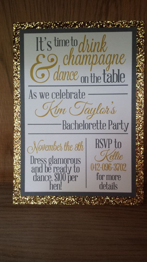 Drink Champagne and Dance on the Table by DesigningWest on Etsy, $1.25
