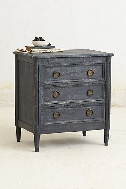 Washed wood nightstand stains indigo and the white for White wood nightstand