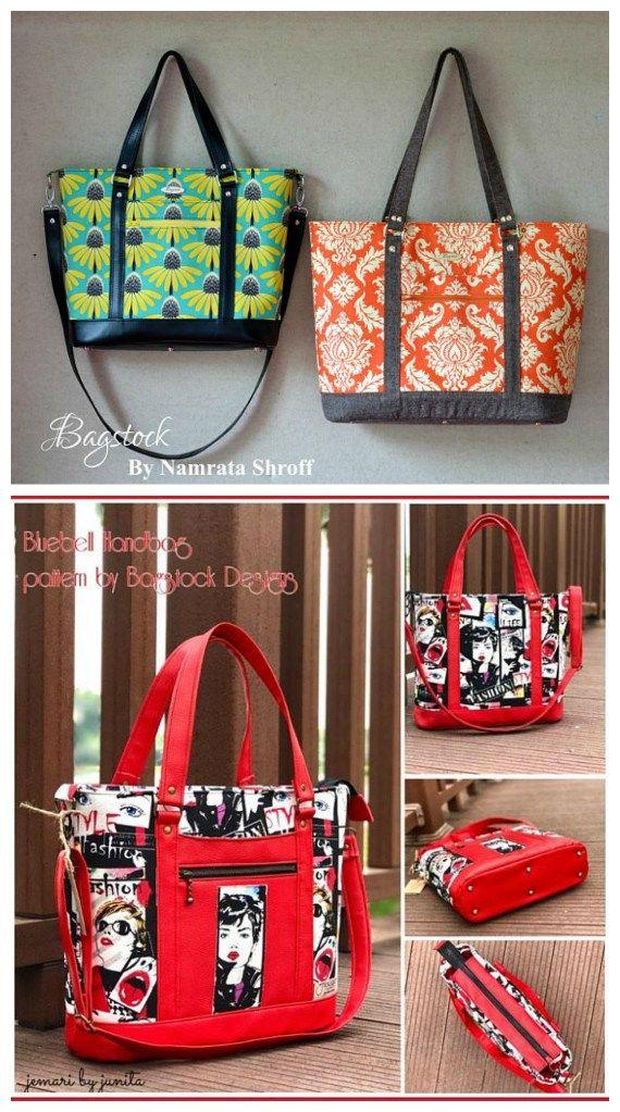 Bluebell Tote And Handbag Sewing