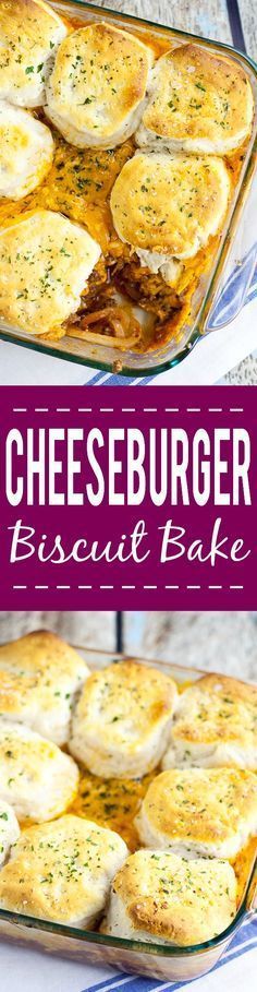 Cheeseburger Biscuit Bake Recipe -This Cheeseburger Biscuit Bake recipe is a delicious 30 minute recipe with ground beef and lots of cheese that's sure to be an instant family favorite. Super yummy and EASY family dinner recipe.