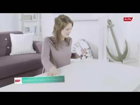 VIDEO. HOW TO: Montere selvklebende folie på stuebordet. #kontaktplast #diy #gjørdetselv #inspirasjon #stuebord #bord