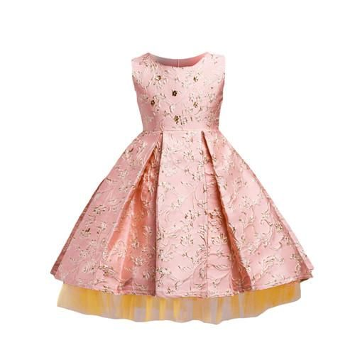 Girl's Floral Sleeveless Party Dress