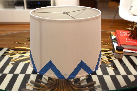 Chevron Lamp Shade DIY | Pomp And Circumstance