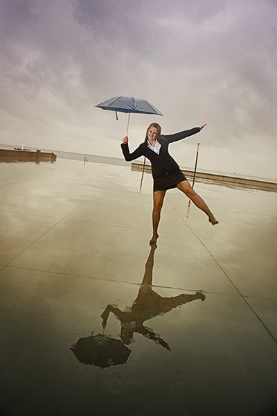 Human nature at it's best...     In spite of darkness and rain, we can still find happiness and joy.    It's out there. Keep telling yourself and you'll find it.    Potographer Hanne Paludan Kristensen - HPKristensen.com