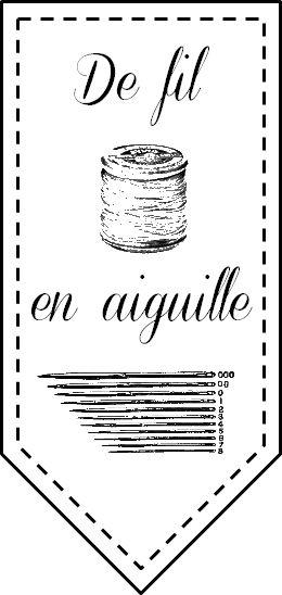 Commande étiquettes couture